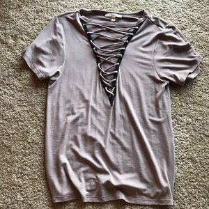Express Lace Up Top